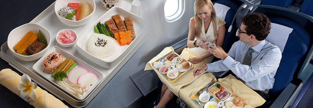 You get all the premium class services, including the luxurious flatbed or comfortable reclining seats.